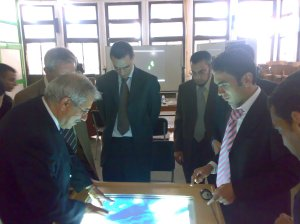 Dr. Samir Shaheen Trying the table