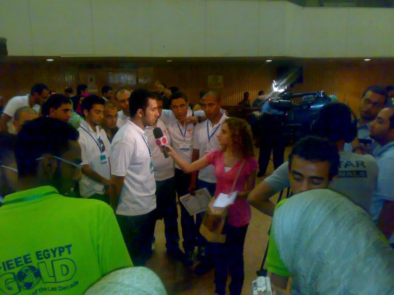 OTV talking with one of the winners