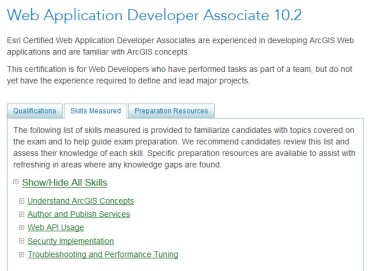 Prepartion for Esri Web Application Developer Associate 10 2